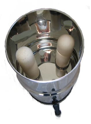 Gravity based candle filter purifier