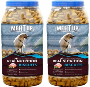 Meatup Chicken Flavour Real Chicken Biscuit Dog Treats500g