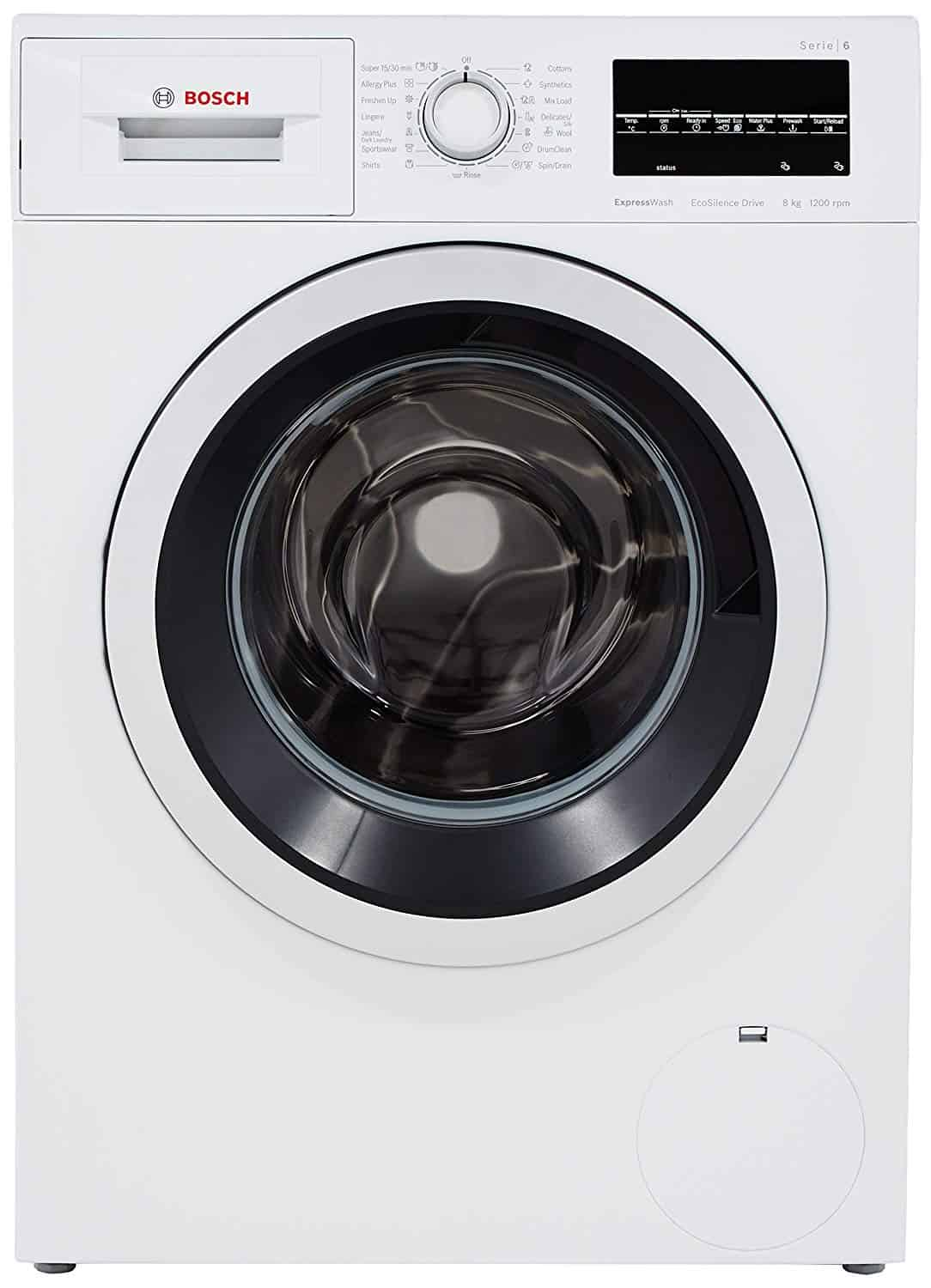Bosch 8 kg Fully-Automatic Front Loading Washing Machine (WAT24463IN, White)