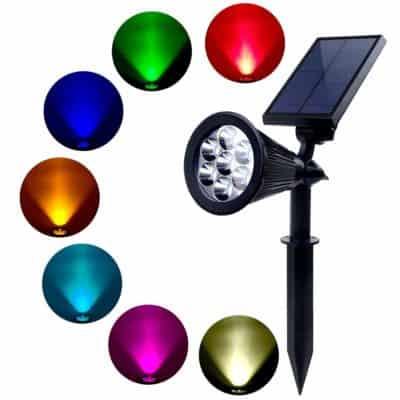 Quace 7 LED Dark Sensing Solar Garden Lights