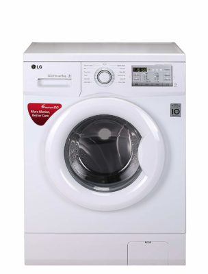 LG 6 kg Inverter Fully-Automatic Front Loading Washing Machine (FH0FANDNL02, Blue White)