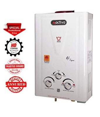 ACTIVA Aqua Copper Tank Instant Gas LPG Water Heater