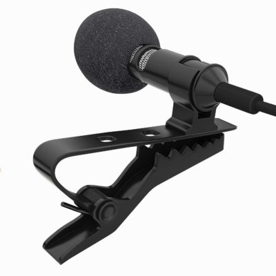 AMG Digital Noise Cancellation Collar Mic With Clip Best Mic For Youtuber Microphone For Singing Karaoke Which Supports In PC Laptop Phone And Tablet Mic With 1.2 M Wire