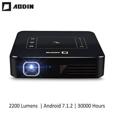 AODIN Android 7.1 4K Smart Mini DLP Projector