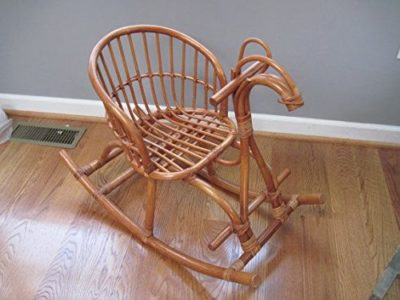 Aashi Enterprise Cane Art Horse Rocking Chair for Kids