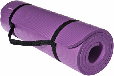AmazonBasics 13mm Extra Thick Yoga and Exercise Mat with Carrying Strap –