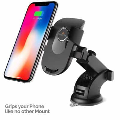 Amkette iGrip Telescopic One Touch Dashboard & Windshield Car Mount for All Mobile Phones