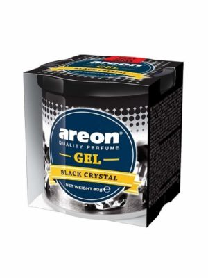 Areon Black Crystal Gel Air Freshener for Car(80g)