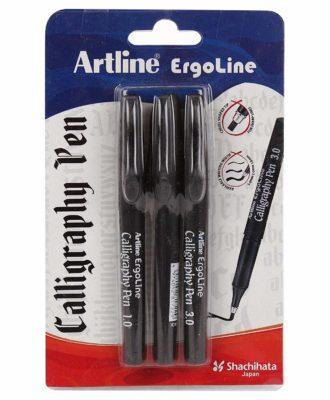 Artline ergoline calligraphy pen.