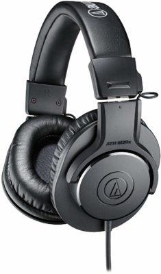 Audio-Technical ATH-M20x Over-Ear Professional Studio Monitor Headphones