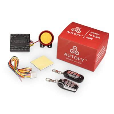 Autofy Lock 0003 Universal Button Remote Key Anti-theft System for all bikes