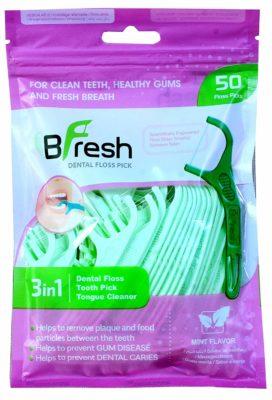 BFresh Flossers 3 in 1 Mint Flavored Dental Floss Picks