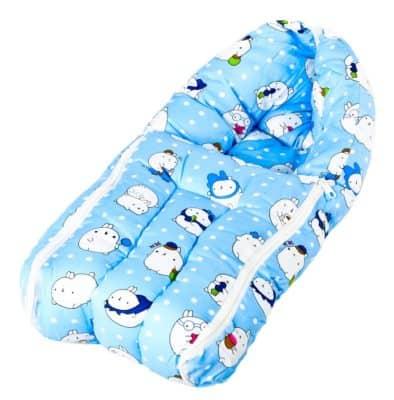 Baybee Baby Cotton Printed Sleeping Cum Carry Bag