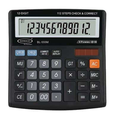 Bambalio BL-555M 12 Digit Electronic Calculator