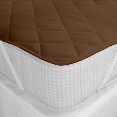Bedding King Waterproof Microfiber Double Bed Mattress Protector (72X78 inches, Brown)