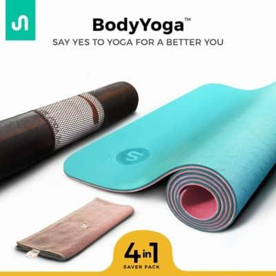 BodyBand Premium Yoga Mat, BODYYOGA Eco-Friendly Exercise Meditation Mat