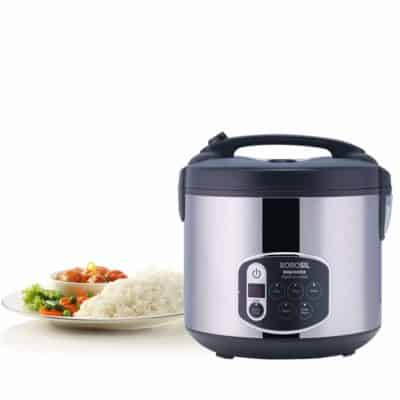 Borosil 1.8-Liters Electric Rice Cooker and Steamer