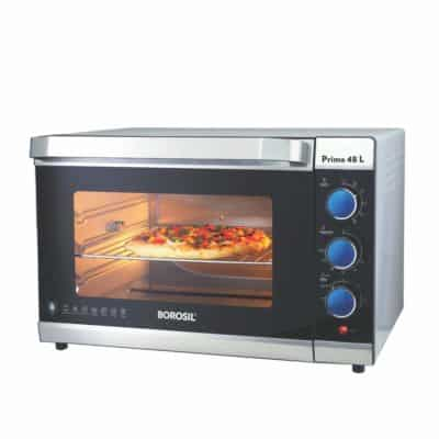 Borosil Prima 48 L 2000 W Stainless Steel Convention Oven Toaster Griller(OTG), Silver