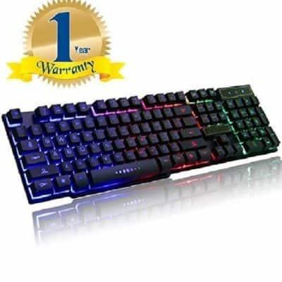 Brand Conquer Rainbow Gaming Keyboard