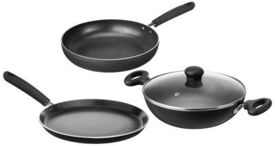 Amazon Brand - Solimo Non-Stick Kitchen Set