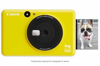 Canon Ivy Cliq Instant Digital Camera Printer (Bumble Bee Yellow)