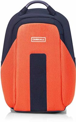 Carriall Polyester Orange And Black Laptop Backpack