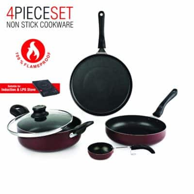 Cello Prima + Induction Base Non-Stick Aluminium Cookware Se