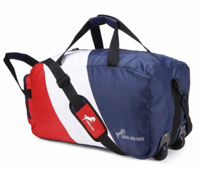 Chris & Kate Space Saver Foldable Blue-white-red Travel Duffle Bag