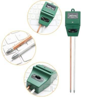 Climberty Soil Tester 3-in-1 Plant Moisture Sensor Meter/Light/pH Tester