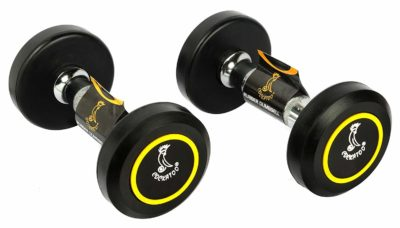 Cockatoo rubber coated professional Round dumbbells