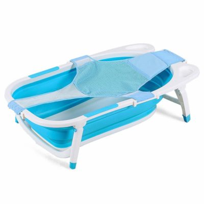 Costzon Baby Folding Bathtub Infant Collapsible Portable Shower Basin