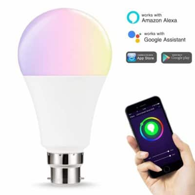 Count_On 14W 1380 Lumens Smart Wireless LED Bulb with Voice Control for Amazon Alexa, Google Home Assistant and IFTTT (White and Multicolour)