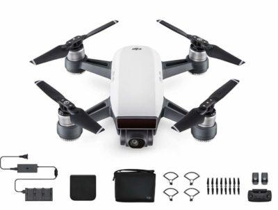 DJI Spark Fly More Combo Selfie Drone – Alpine White