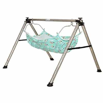 Dyrect Deals Indian Style Semi-Folding Stainless Steel Baby Cradle