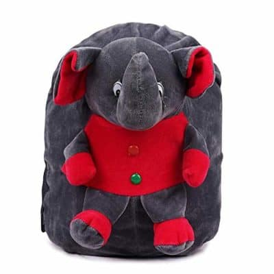 Deal Especial Elephant Soft Synthetic Toy Beautiful Velvet Kids School/Nursery/Picnic/Carry/Travelling Bag for Boys and Girls