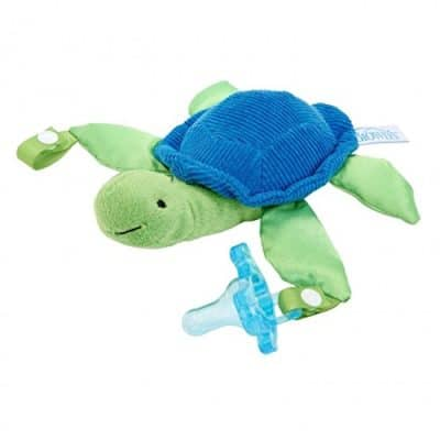 Dr. Brown's Timmy the Turtle Lovey with Blue One-Piece Silicone Pacifier