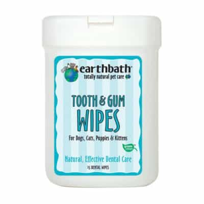 EARTHBATH 026362 25 Count Tooth and Gum Wipes for Dogs, Cats, Puppies and Kittens
