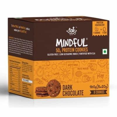 EAT Anytime Dark Chocolate Gluten Free Protein Cookies Pack of 8