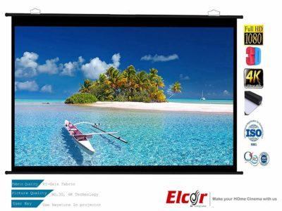 ELCOR 120 inch Diagonal HI Gain Fabric Map Type Projector Screen