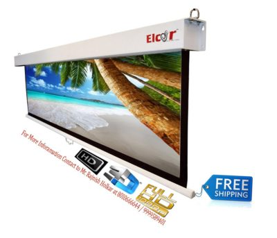 ELCOR Wall Spring Action Projector Screens