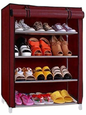 Ebee Store Shoe Rack with 4 Shelves
