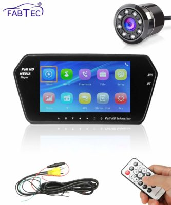 FABTEC Car 7? HD LCD Screen with USB & Memory Card Support with Night-Vision Rear View Reverse Parking HD Camera