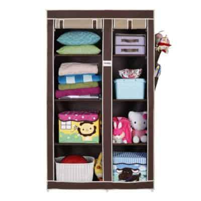 FOLDDON Foldable wardrobe with 8 Racks