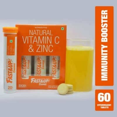 Fast&Up Charge Vitamin C Tablets and Zinc Supplements
