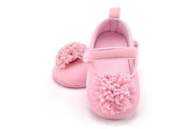 FemmeStopper Baby Girl Flower 12-18 Months (14cm) Born Infant Baby Girls Shoes First Walker Shoes
