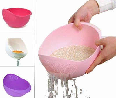 Flatware Rice Pulses Fruits Vegetable Noodles Pasta Washing Bowl & Strainer Good Quality & Perfect Size for Storing and Straining