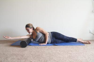 Foam Roller Triceps Exercise