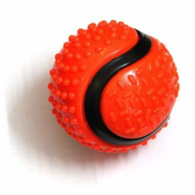 Foodie Puppies Aggressive Chewers - Extra Durable Big Rubber Ball Toy for Adult Dogs