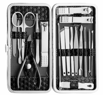 Foolzy Stainless Steel Nail Utility 18-in-1 Grooming Travel Set
