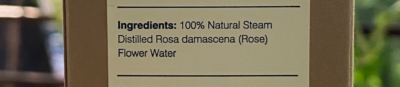 Forest Essentials Facial Tonic Mist Rosewater Ingredients
